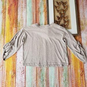 Donna Karan Athleisure Knit Sweatshirt Top S